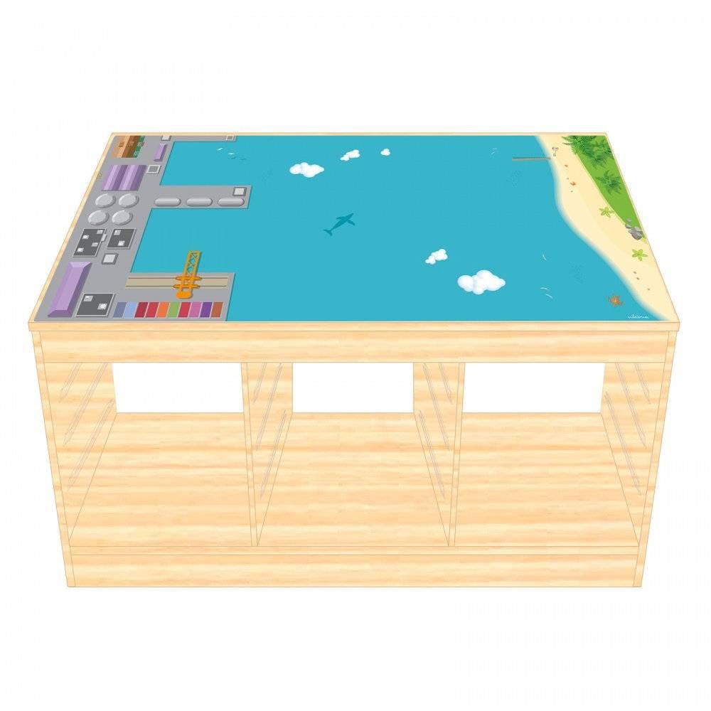 Spielfolie/ Möbelfolie für IKEA TROFAST HOLZ Hafen Aufkleber Sticker Kinderzimmer Spieltisch (Möbel nicht inklusive) Bild 1