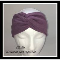 Stirnband mit Knoten lila-meliert Bild 1