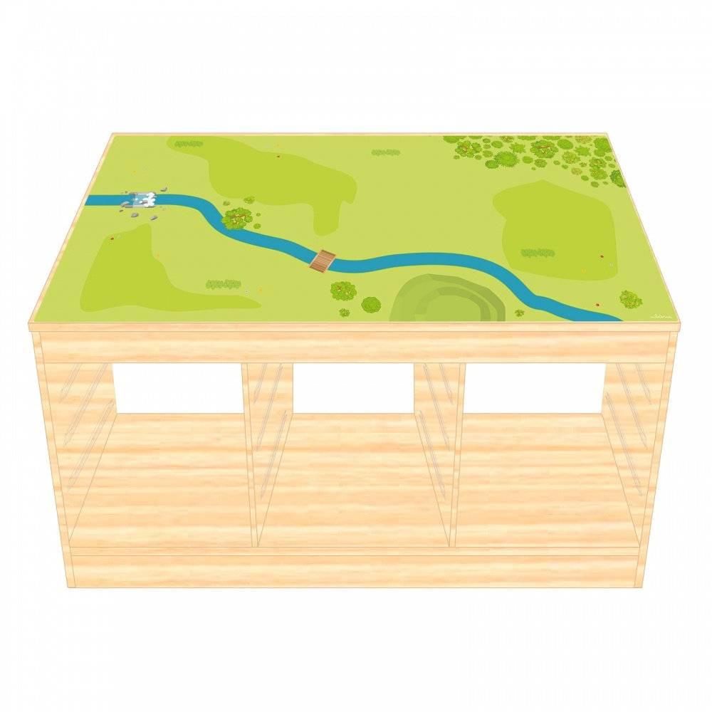 Spielfolie/ Möbelfolie für IKEA TROFAST HOLZ Wald & Wiese Aufkleber Sticker Kinderzimmer Spieltisch (Möbel nicht inklusive) Bild 1