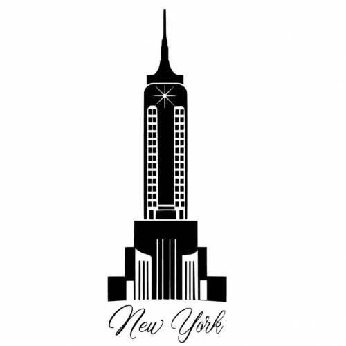 Wandtattoo - Möbeltattoo - Vinyl - Vintage - Shabby  - New York - 6120