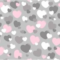 Herzen auf grau Bild 1