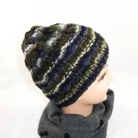 Mütze, olive, grün, grau, blau, camouflage Bild 1