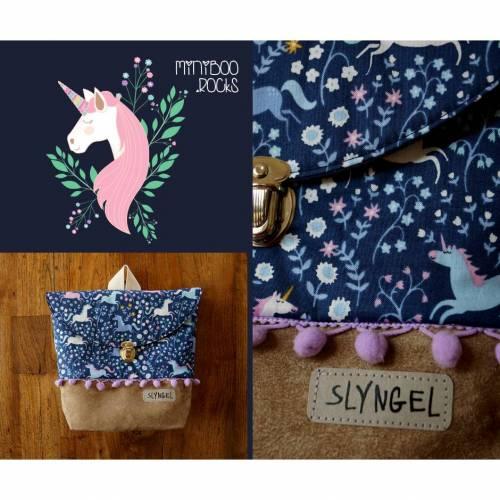 Kinderrucksack mit Namen, Kindergartenrucksack, Kindergartentasche, Geschenke für Mädchen, Rucksack mit Einhörnern, Blumen, Pomponborte