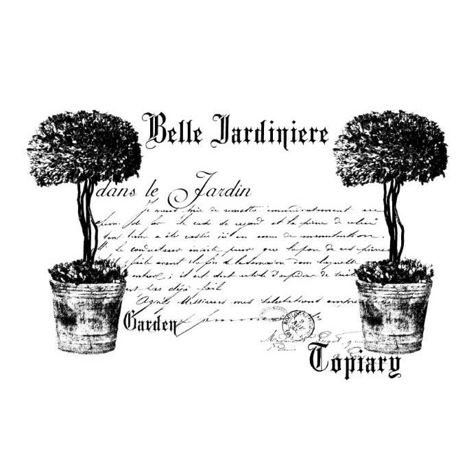Potch-Motiv - Foto-Transfer - Vorlage - Belle Jardiniere - French - Vintage - Shabby - 30013 Bild 1