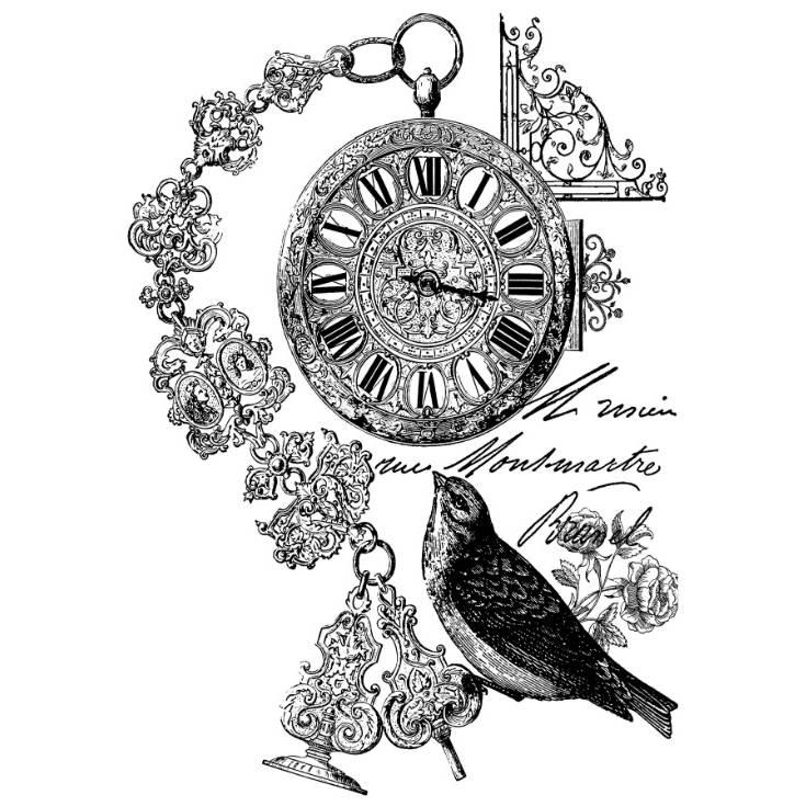 Potch-Motiv - Foto-Transfer - Vorlage - Uhr - Vintage - Shabby - 30014 Bild 1