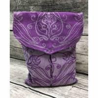 Tasche Tyr aus Tragetuchstoff in lila mit eflischem Muster Bild 1