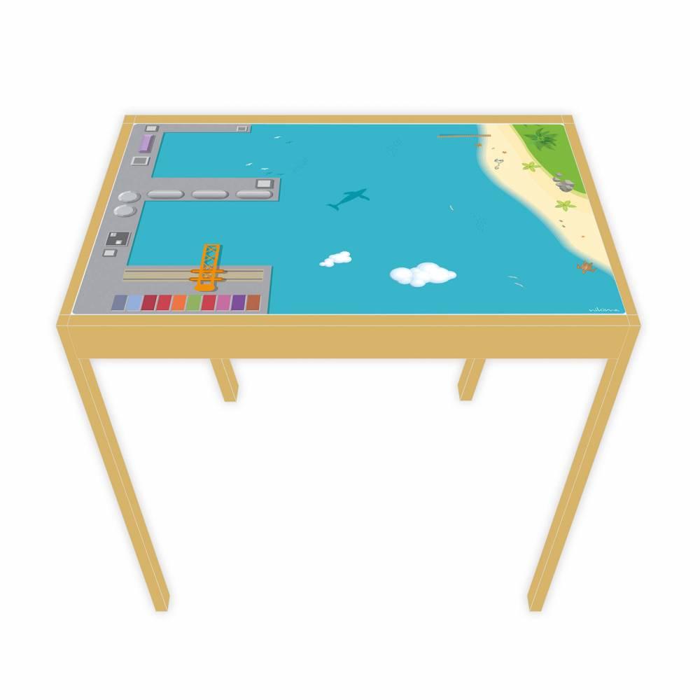 Spielfolie für LÄTT Spieltisch Hafen 63 x 48 cm (Möbel NICHT INKLUSIVE) Bild 1