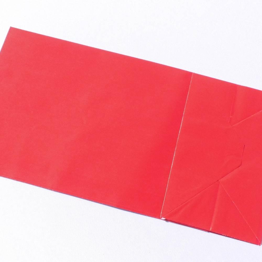 Papiertüten rot 12 Stück Bodenbeutel Bild 1