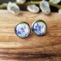 Ohrringe u Ringe Cabochonschmuck verschiedene Fassungen Lavendel Bild 1