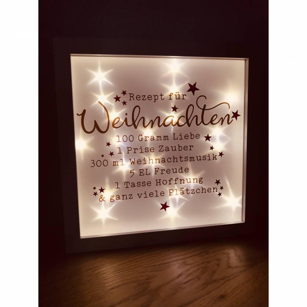 """beleuchteter Bilderrahmen """"Rezept für Weihnachten"""" Bild 1"""