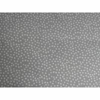 10,10 EUR/m Stoff Baumwolle Pünktchen weiß auf hellgrau
