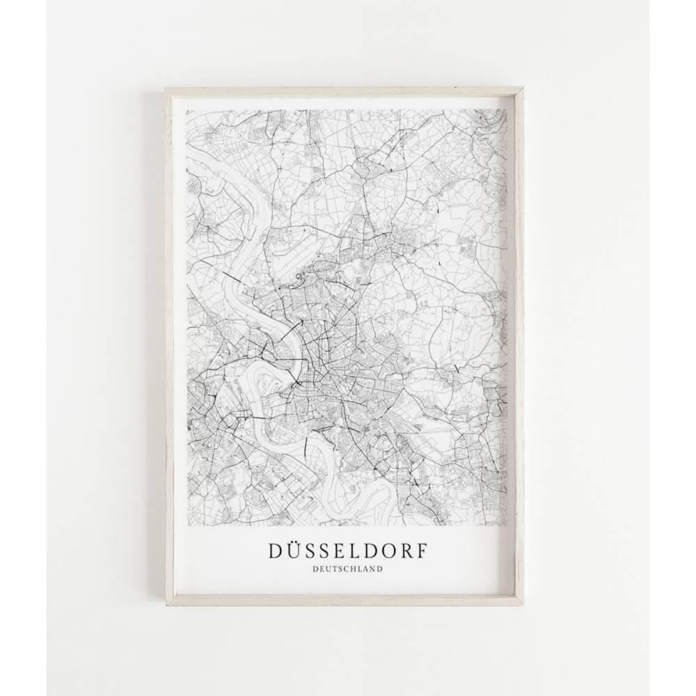 DÜSSELDORF Poster Map | Kunstdruck | hochwertiger Print | Karte | Stadtplan | skandinavisches Design Düsseldorf Karte CityMap Bild 1