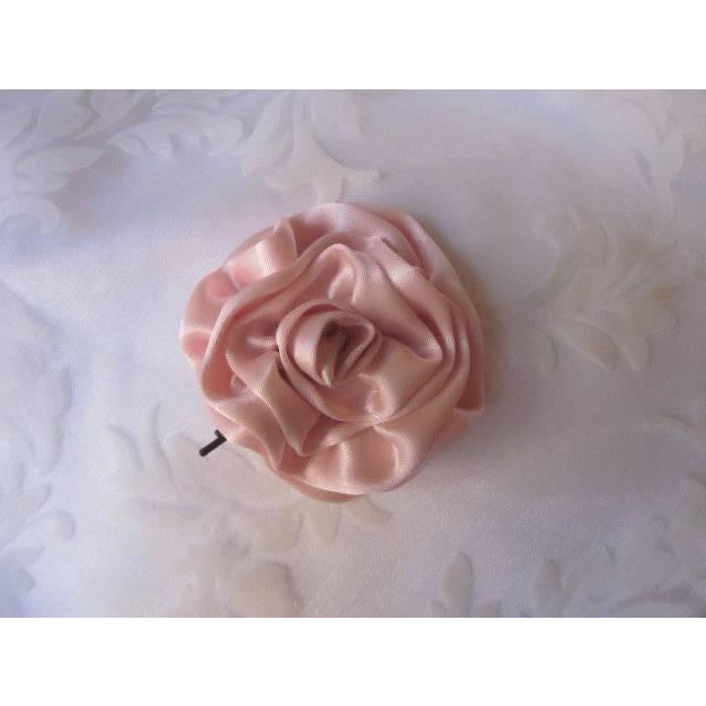 """Rosa Stoffblume Haarklammer Haarschmuck Blume """"Amour rose"""" festlich romantisch Brautschmuck  Bild 1"""