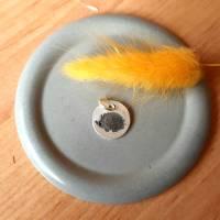 Herz-Anhänger Igel aus 999 Silber, teils geschwärzt Bild 1