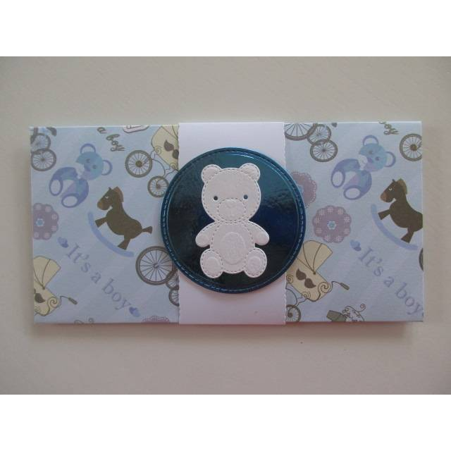 Geschenk-Kuvert für Geldgeschenke oder Gutscheine, zur Geburt oder Taufe eines Jungen Bild 1