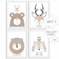 Kinderzimmer Bilder Tiere Poster Waldtiere Wildtiere   Bild 1