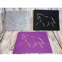 Equidenpass Hülle - Pferdepass Hülle Dressur - Schicke Hülle für den Pferdepass Bild 1