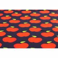 "17,50EUR/m Jersey Äpfel auf marineblau ""FvJ"" Bild 1"