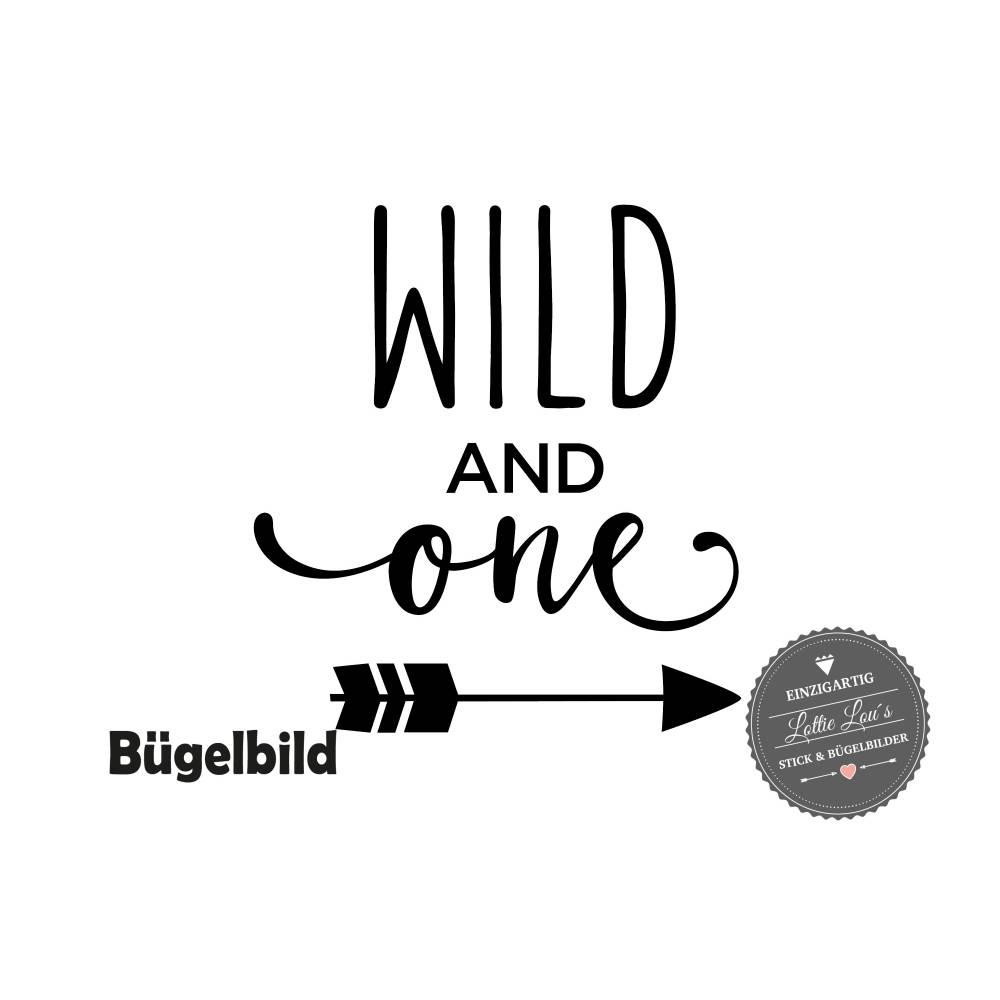 Bügelbild Geburtstag Wild and One mit Pfeil   Bild 1