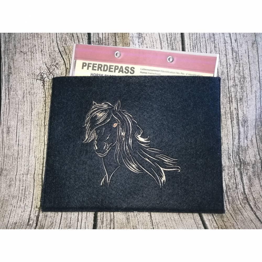 Equidenpass Hülle - Pferdepass Hülle Pony - Schicke Hülle für den Pferdepass Bild 1