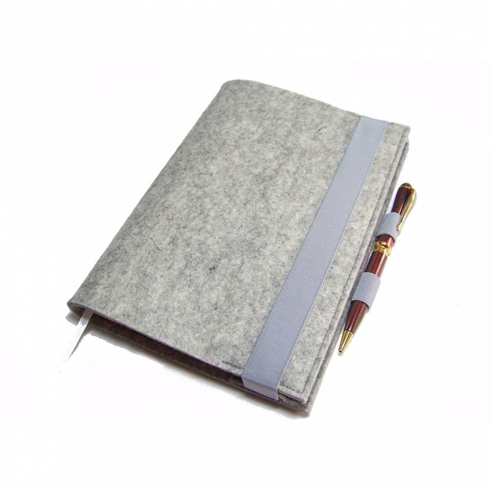 Kalenderhülle Hülle Einband Wollfilz Filz mit Stifthalter personalisierbar für Din A5 Buchkalender Notizbuch bis max. 21 x 15 x 2,5cm Bild 1