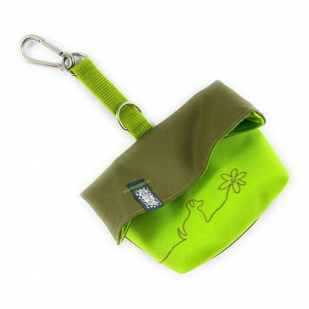 Leckerlitasche, Leckerlibeutel, Wasser- und Schmutzabweisend, Olive Grün Bild 1