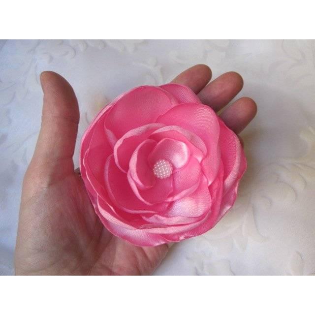 """Rosa Klammer Pink Haarblume """"Fuchsia"""" Brautschmuck Boho Vintage Stil Bild 1"""