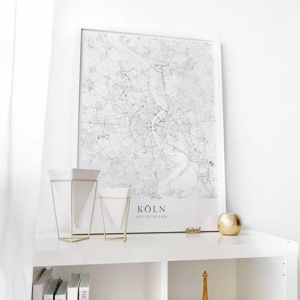 KÖLN Poster Map | Kunstdruck | hochwertiger Print | Köln | Stadtplan | skandinavisches Design Köln Karte Bild 1