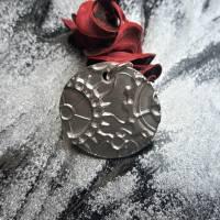 Anhänger Steampunk aus 999 Silber, Silberanhänger mit Zahnrädern, patiniert Bild 6