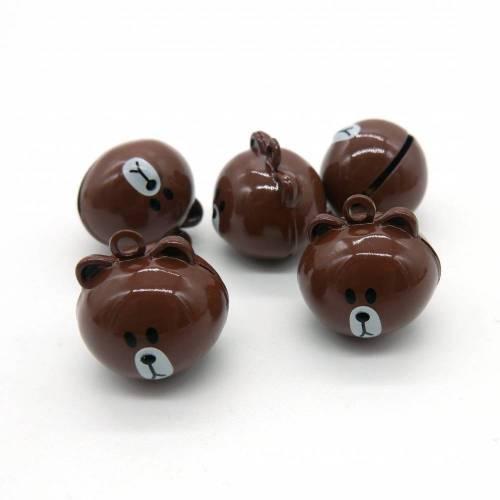 Motivglöckchen, Teddy-Bär, Glöckchen, braun, 3 Stück