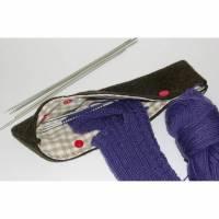 Nadelgarage, Nadelspiel Aufbewahrung, Stricknadelaufbewahrung Handtasche, Stricknadeletui, Nadelspielmappe, Nadelspielmäppchen unterwegs Bild 1