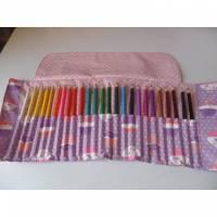 Stifterolle, Stiftemappe, Aufbewahrung für Stifte und/oder Pinsel, Schlamperrolle Bild 1