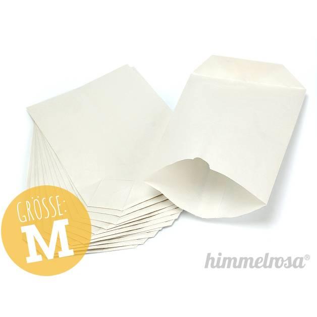 24 Papiertüten weiß - M - für Adventskalender Bild 1