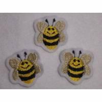 Mini Bienen 3er-Set  Aufnäher Applikation Bild 1