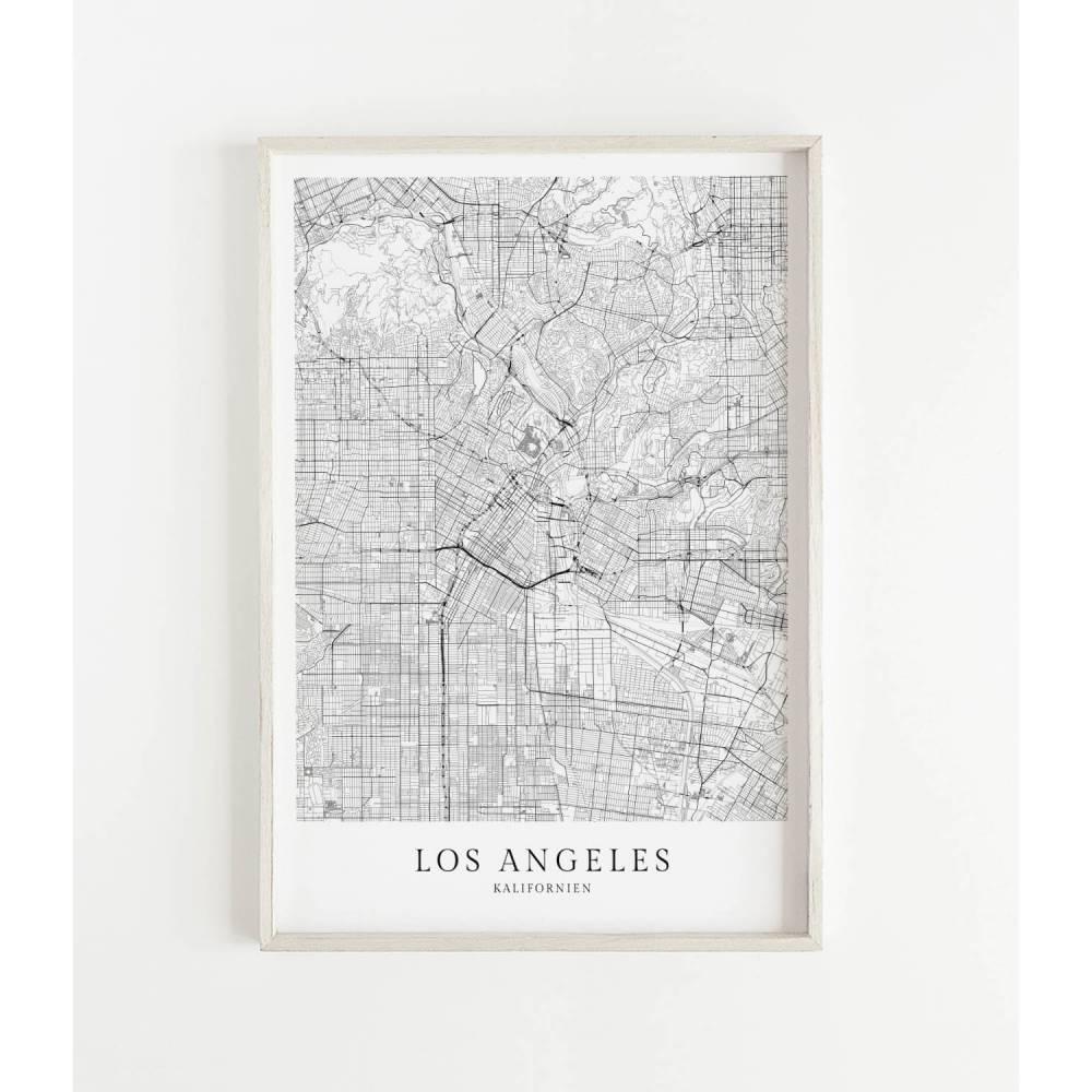 LOS ANGELES Poster Map | Kunstdruck | hochwertiger Print | Los Angeles | Stadtplan | skandinavisches Design Karte Bild 1