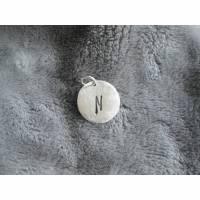 personalisierter Anhänger aus 999 Silber mit Wunschbuchstabe Bild 2