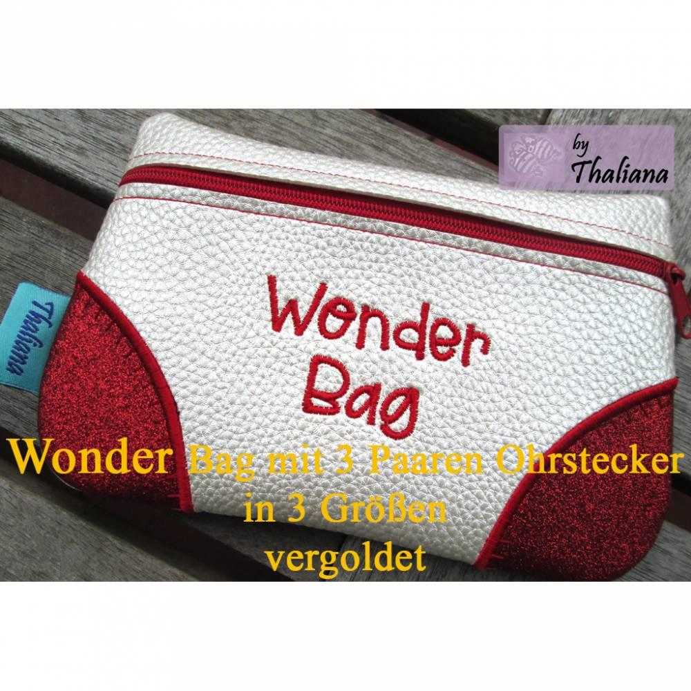 Wonderbag Ohrstecker Überraschung mit 3 Paaren Ohrstecker vergoldet Bild 1