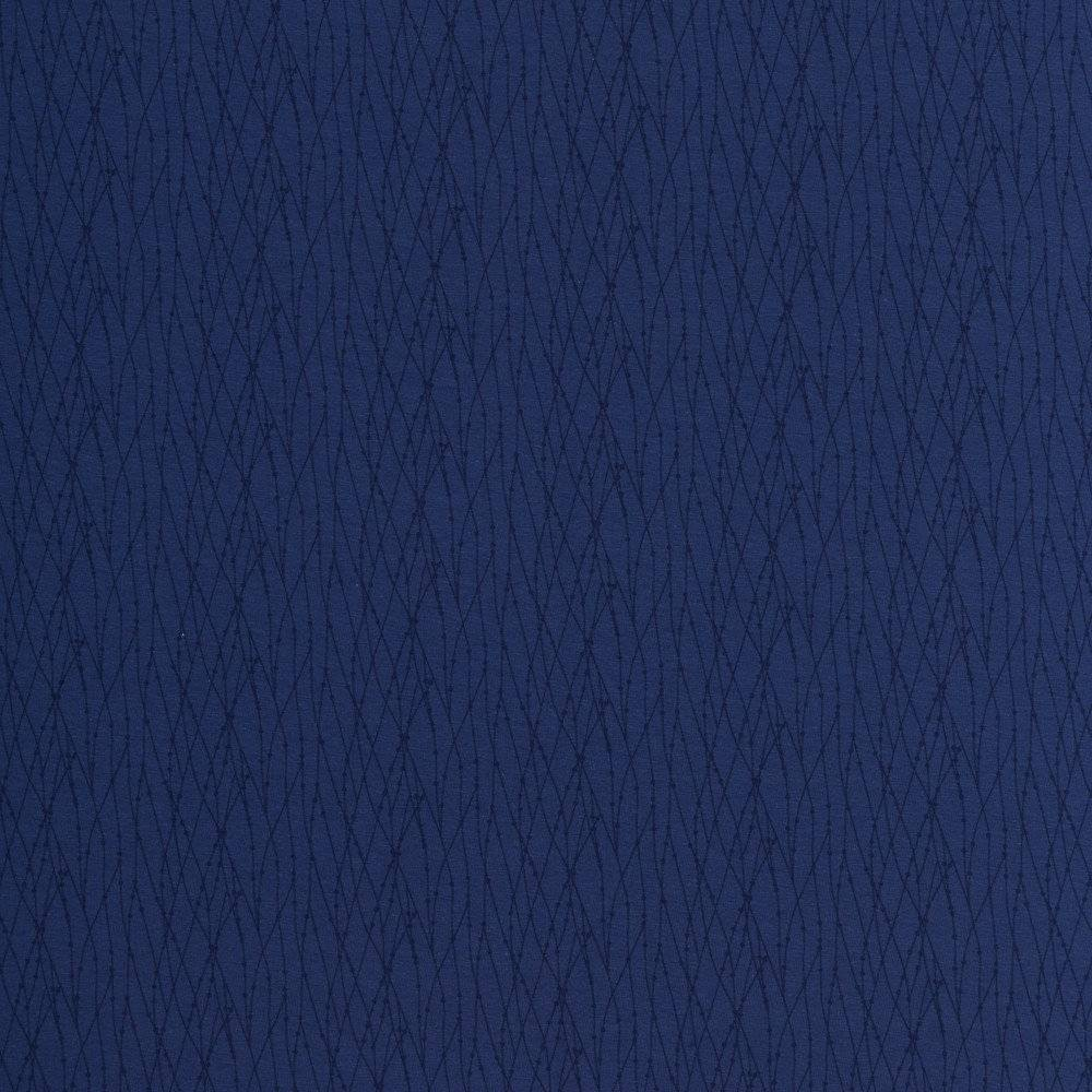 13,50EUR/m Jersey Valerie Punkte/Striche dunkelblau Bild 1