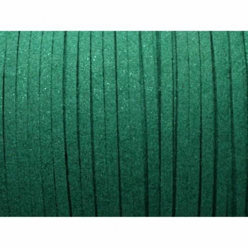 0,50€/m 3 Meter Velour Band Wildleder Imitat, grün glitzer