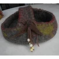 Filzkorb aus 100 % Wolle handgefilzt Bild 1