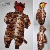 "Tiger ""Tommy"" Kostüm Overall in Gr. 80/86 Fasching Karneval Bild 1"