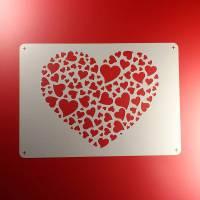 Schablone Herz Herzen Liebe Heart - BE38 Bild 1