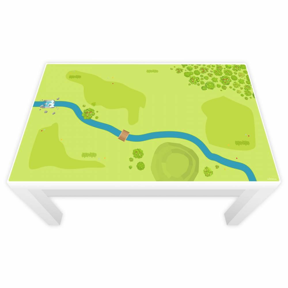 Spielfolie für LACK Tisch Wald & Wiese Bild 1