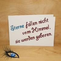 "[2019-0184] Klappkarte ""Baby / Geburt"" - handgeschrieben Bild 1"