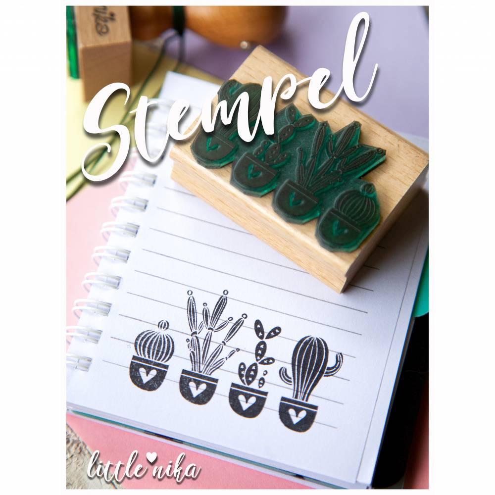 Stempel Kaktus / Herz / bullet journal / Kaktus-Motiv / Diary journal Bild 1