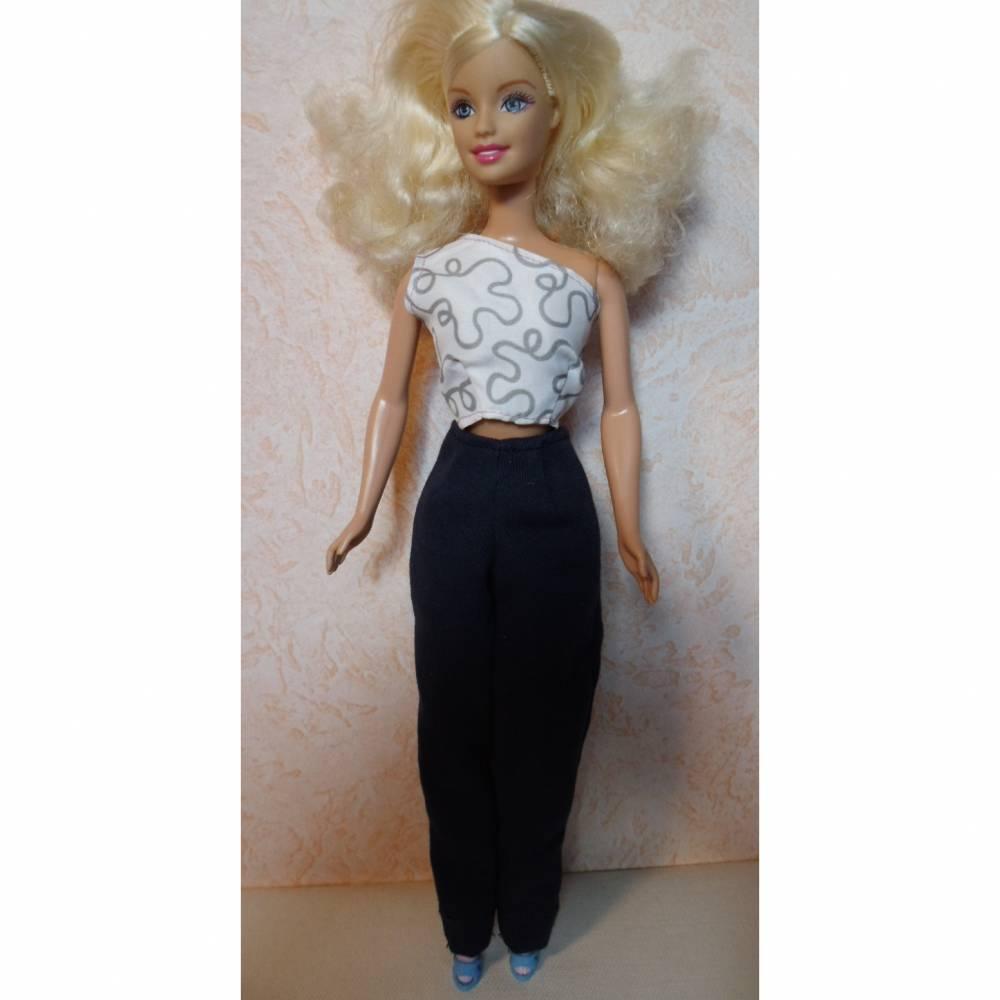 Barbie-Kleidung, Barbie-Jeans, Jeans für Barbiepuppe, Twillstoff Hose Bild 1