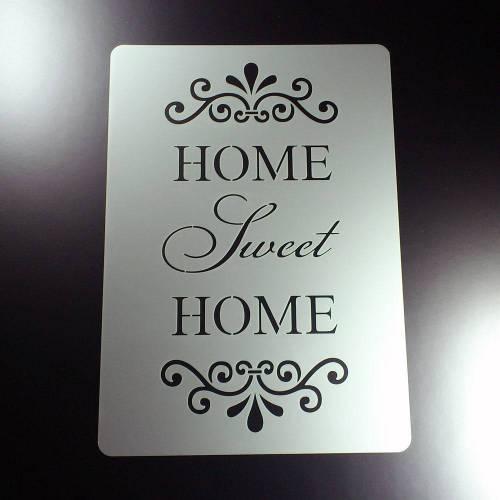 Schablone Shabby Look Home Sweet Home - BO47