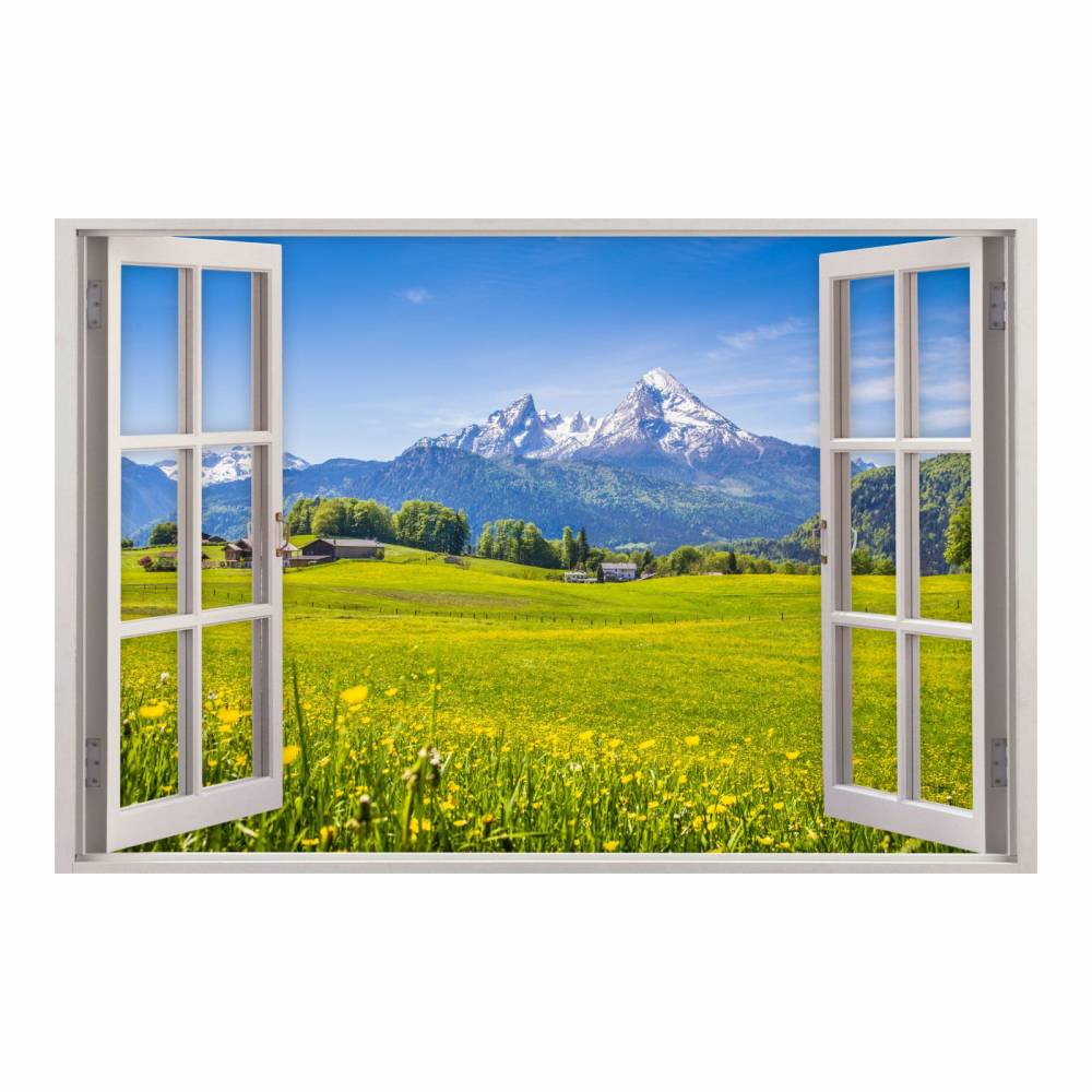 151 Wandtattoo Fenster Alpen Berge In 5 Grossen