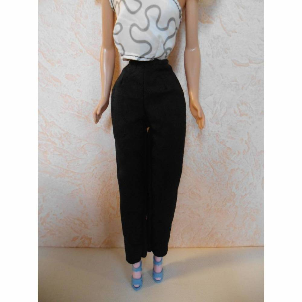 Barbie-Kleidung, Barbie-Jeans, Jeans für Barbiepuppe, Jeansstoff Hose Bild 1