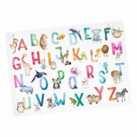 Kinder Lernposter Tier ABC Watercolor - A3/ A2/ A1 *nikima* in 3 verschiedenen Größen Plakat Wanddeko Kinderzimmer Bild 1